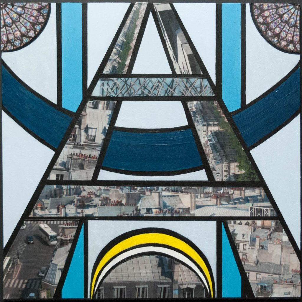 This is Paris, mixed media painting