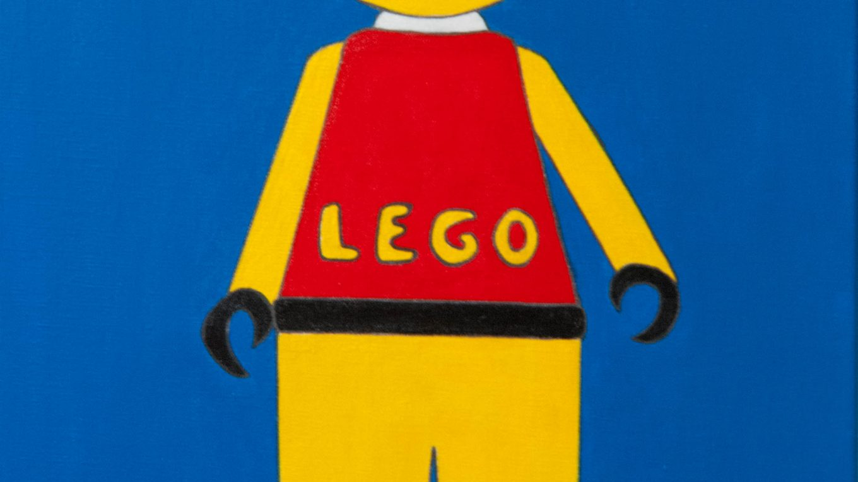 Mister lego man, acrylic painting