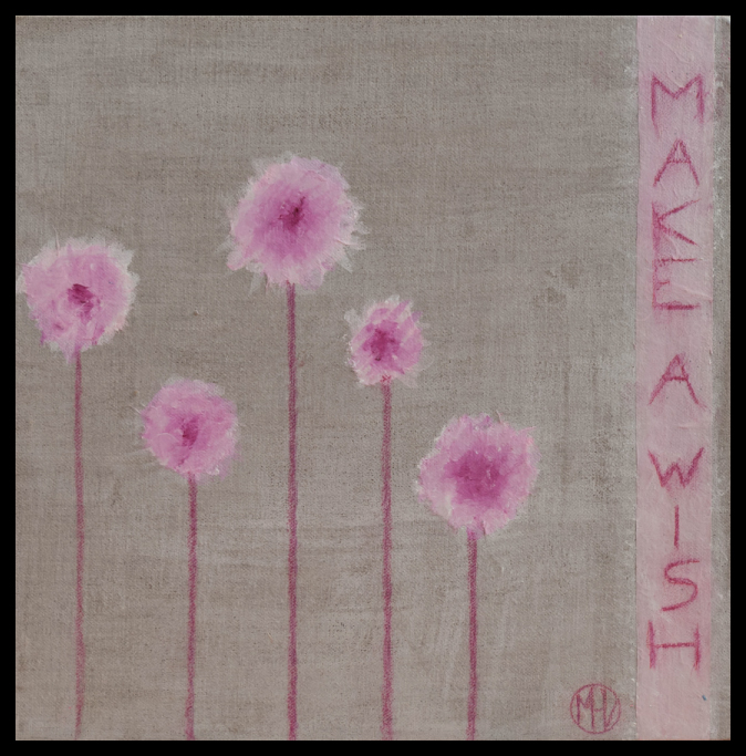 Make a wish - Mixed media painting