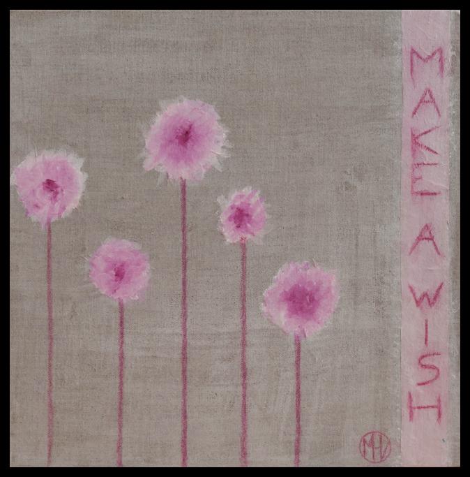 Make a wish - Mixed media painting