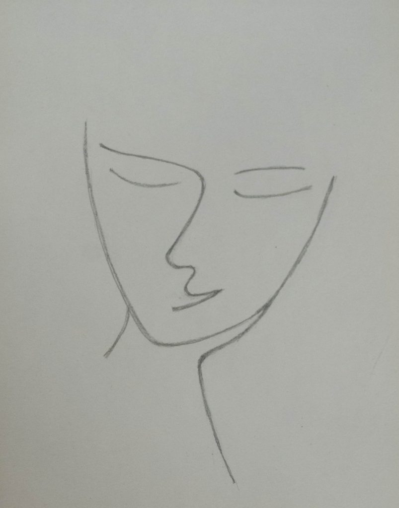 Drawing, Line's pleasure inspired by an illustration of Carmen by Picasso