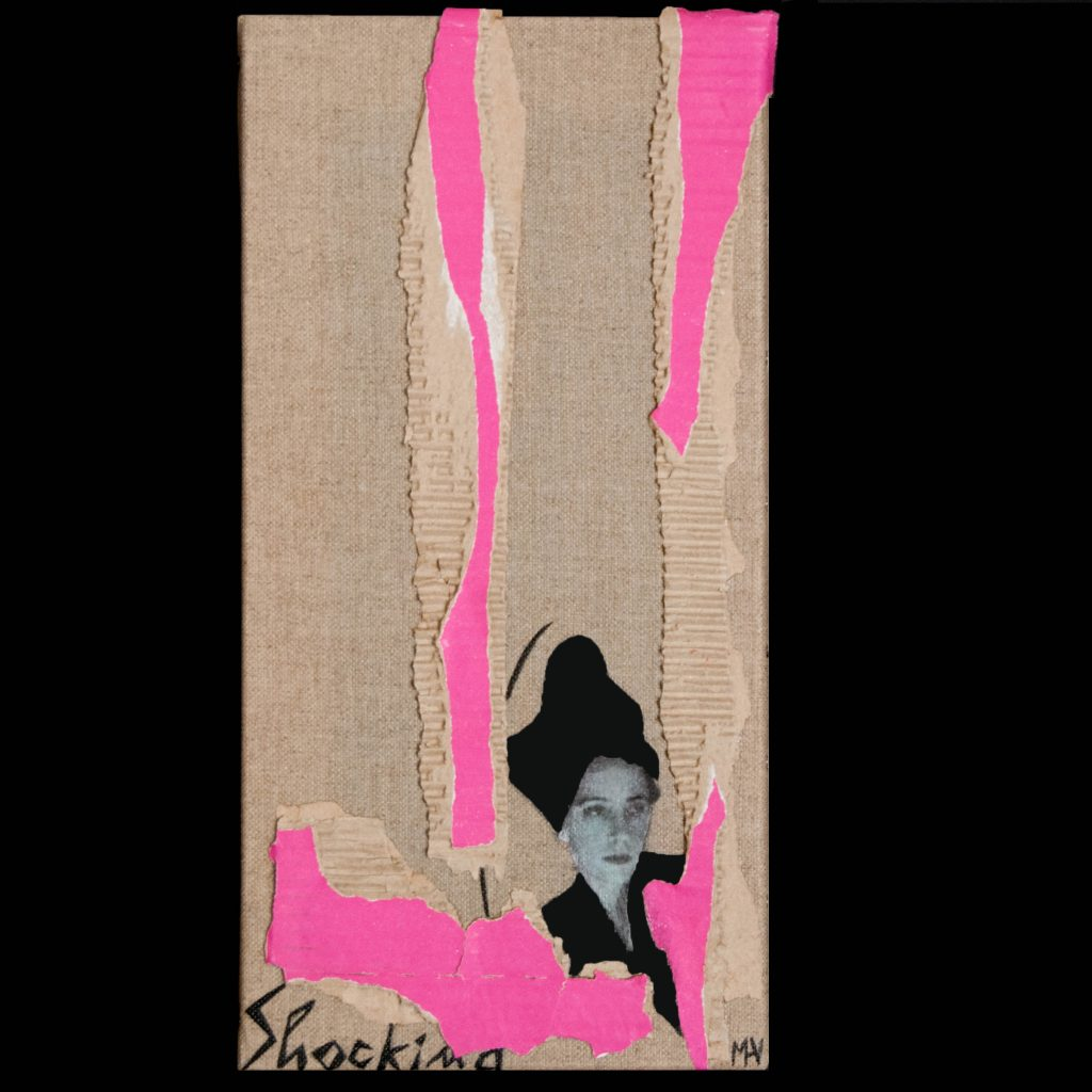 Mixed media portrait of the fantastic Elsa Schiaparelli