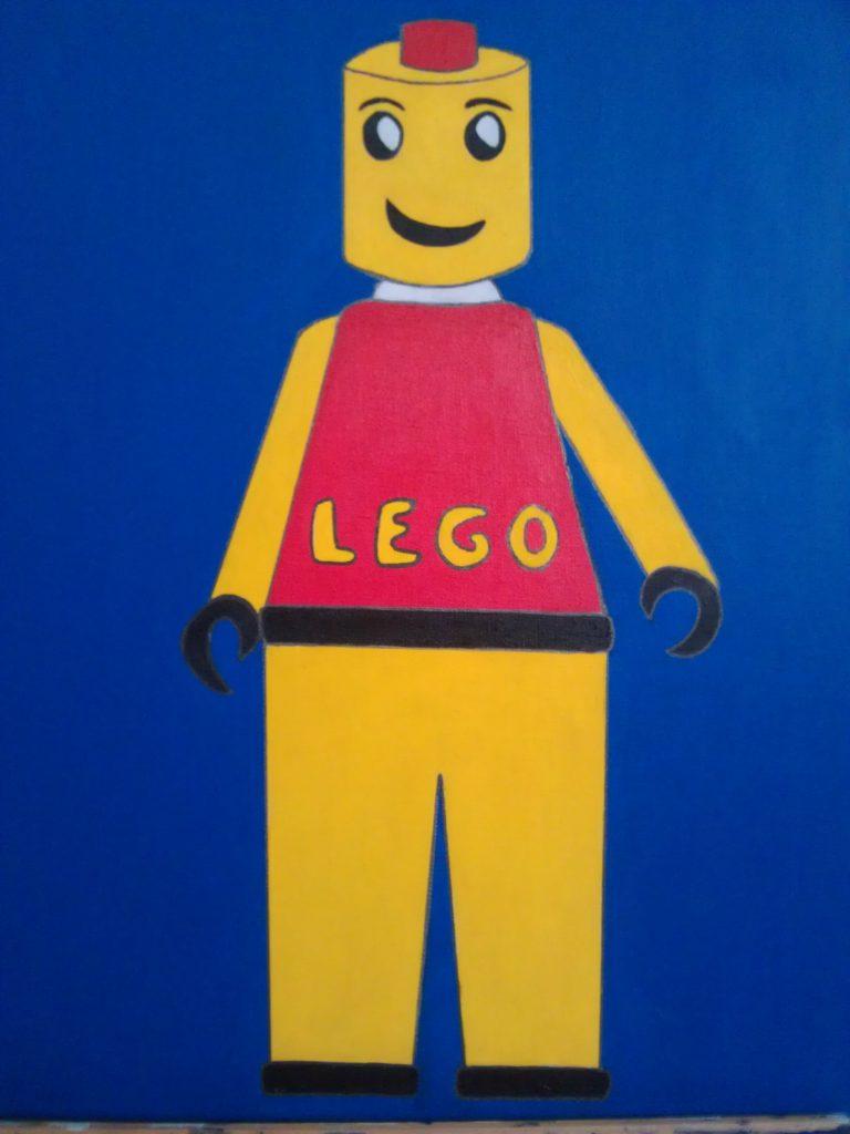Legoman, acrylic painting