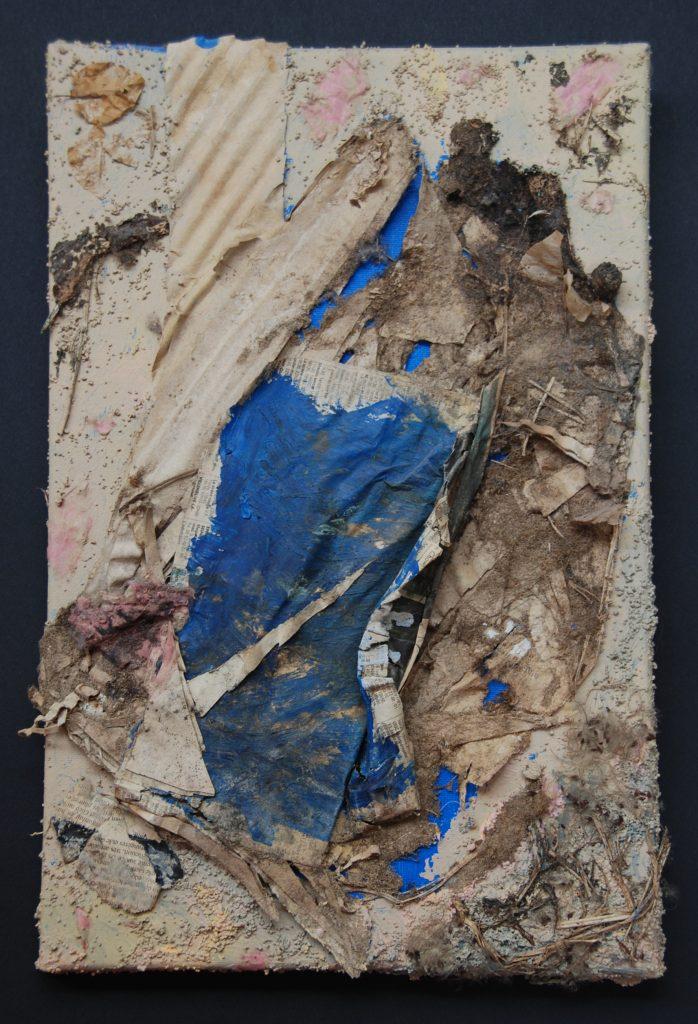 Chaos, mixed media painting