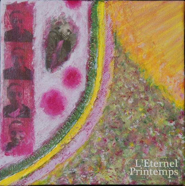 Un éternel printemps, everlasting spring, mixedmedia painting