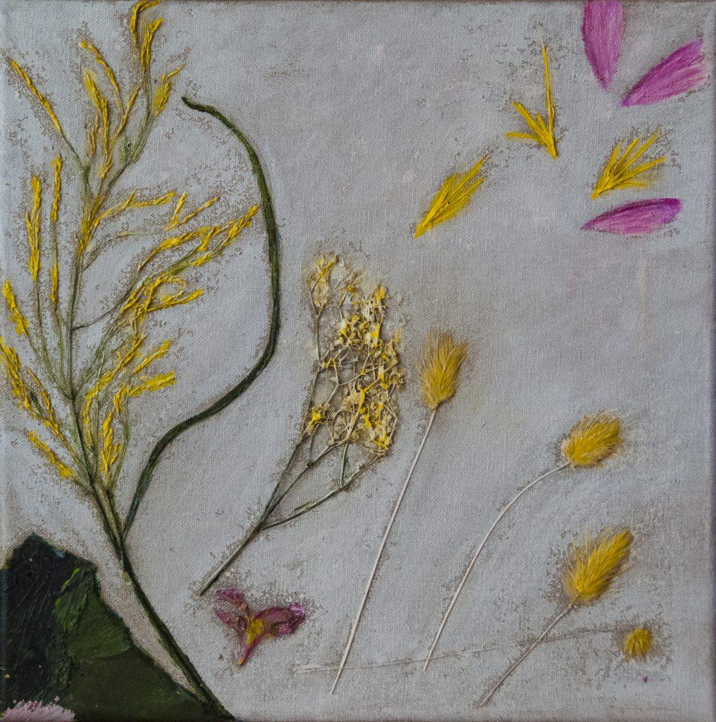 Langorous ecstasy, mixed media painting