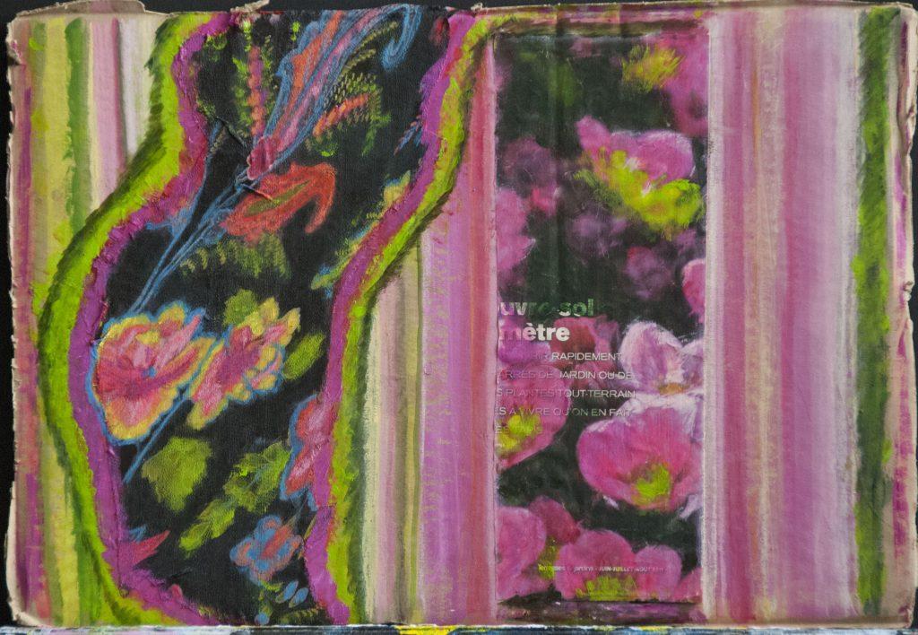 Floral extravaganza, mixed media painting